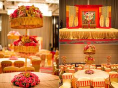 Nikita and Akash's imaginatively designed and perfectly executed wedding décor rendered by WeddingSutra Favorite of Celebrations Wedding Flower Decorations, Wedding Flowers, Table Decorations, Idea Box, Baby Showers, Wedding Events, Floral Arrangements, Celebrations, Centerpieces