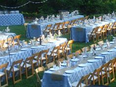 Outdoor wedding | garden party | backyard wedding | Delaware wedding | eastern shore wedding | wedding party rentals | chair rental | family style seating | styled wedding | party decor ideas