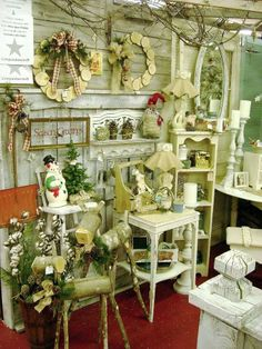 Holiday booth display