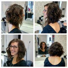 Finally I get my #long #curly #bob #haircut