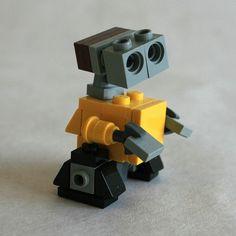 Wall-E lego minifig Lego Minecraft, Lego Wall-e, Robot Lego, Lego Craft, Lego Toys, Lego Star, Lego Mecha, Lego Design, Lego Disney
