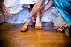 Real Wedding   Orange and Teal Wedding