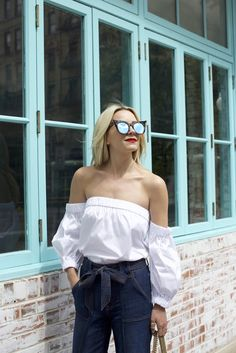 Perfect off the shoulder shirt a slice of // summer | // Atlantic-Pacific