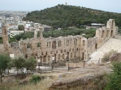 The Theater of Herodes Attikus from the Akropolis