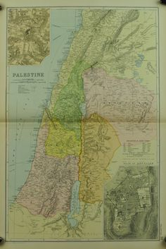 Palestine Issued 1891 In VG condition toned center fold as issued. Sheet measures c. 20 3/4 x 13 3/4 inches