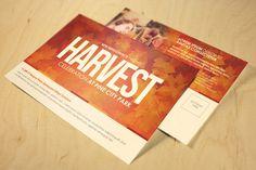 Harvest Celebration Church Postcard by loswl on Creative Market