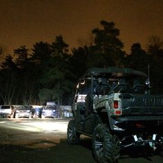 Ready to roll for an early morning hunt. Photo by orangeatv. #yamahaviking #realworldtough