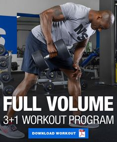 This 4 day workout program helps you build muscle by combining a high volume 3 day split with a fun and functional full body Friday workout. Give it a try!