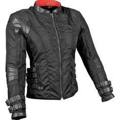 Womens Punk Spike Studded Shoulder Leather Jacket Coat Motorcycle