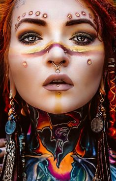 Morgin Riley Sacred Feminine, Divine Feminine, Feminine Face, Body Art Tattoos, Small Tattoos, Fantasy Photography, Artistic Photography, Dreads Girl, Real Doll
