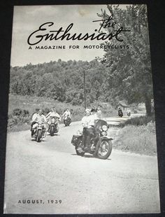 Check out this item in my Etsy shop https://www.etsy.com/listing/209934183/august-1939-harley-davidson-enthusiast