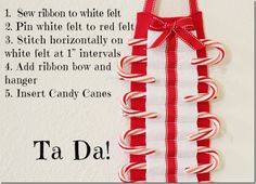 """Candy Cane Countdown Instructions  ...Or wear as an apron for our """"Candy Cane Lane"""" fundraiser"""
