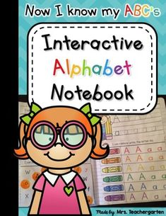 Interactive Alphabet Notebook - This interactive alphabet notebook is a FUN and engaging way for students to learn and practice all the letters and sounds of the alphabet. There are a variety of hands-on activities for students to complete each day of the week with minimal cutting.
