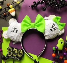 Mickey and Minnie Mummy Halloween Inspired Disney Ears Headband