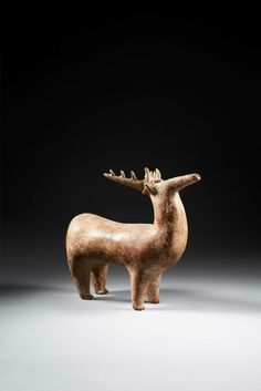 'Amlash' spouted vessel in the form of a stag, Southwestern Caspian region, Marlik culture, early 1st millenium BC. Photo courtesy Ben Janssens Oriental Art Ltd.