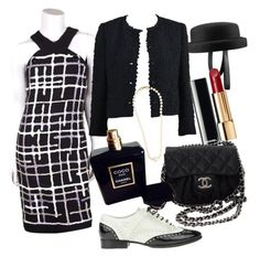 chanel by miha-jez on Polyvore featuring polyvore, fashion, style, Chanel and clothing