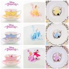 Disney Princess Tea Sets Princess Tea Party, Disney Princess, Disney Coffee Mugs, Disney Cups, Party World, Disney Dream, Disney Magic, Disney Kitchen, Disney Home Decor