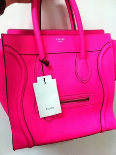 O M G this bright pink Céline is devine! ( i dont usually go for fluorecent stuff. but yes. its divine.. )