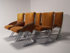 Milo Baughman-style Dining Chairs - All