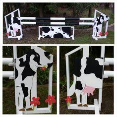 Cow horse show jump set