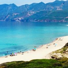 The beautiful beach of Porto Paglia, Gonnesa,