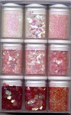 DIY glitters roze