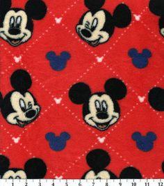 Disney Mickey Mouse Ultra Cuddle Fleece Fabric