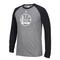 Golden State Warriors adidas Climalite Men's Alternate Logo Long Sleeve Contrast Tee - Slate