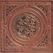 """225 Faux Tin Ceiling Tile - Antique Copper - 23 3/4"""" x 23 3/4"""""""