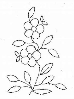 Floral Pattern for Beading or Embroidery Floral Embroidery Patterns, Hand Embroidery Tutorial, Embroidery Transfers, Crewel Embroidery, Applique Patterns, Hand Embroidery Designs, Vintage Embroidery, Flower Embroidery, Machine Embroidery