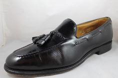 ALLEN EDMONDS Brookwood Mens Black Leather Tassel Slip On Loafer Shoes 13 B #AllenEdmonds #LoafersSlipOns