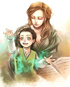 So there's a deleted scene in Thor: The Dark World where Frigga mentions how she taught Loki all the magic tricks he's so good at.  So.... d'awwwww.