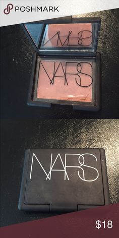 NARS madly blush Only has been swatched, then me be clumsy as usual, I dropped it on my desk that why some pieces are missing around the edges. NARS Makeup Blush