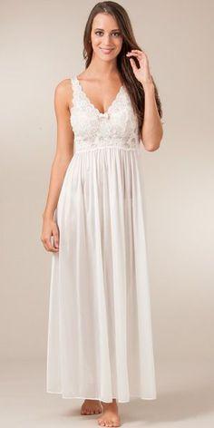 991dde5306 Plus Shadowline Silhouette Sleeveless Long Nightgown - Ivory