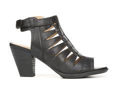 A sophisticated covered silhouette gives the Talan heels from Naturalizer spring-to-fall appeal.Faux leather upper in an open dress style with an open toeHeel sling strap with adjustable hook-and-loop closureCovered front with cutout detailingN5 Contour technologyNon-slip outsole for stability, 2 3/4 inch heel