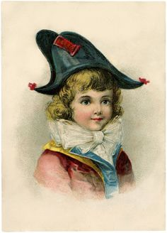 Darling Bicorne Hat Boy Image! - The Graphics Fairy