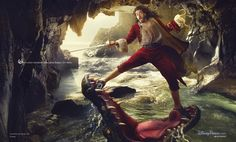 Russell Brand as Captain Hook for the Disney Dream Portrait Series