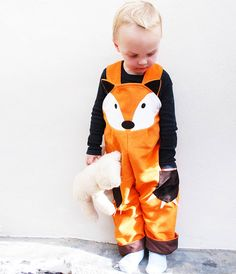 fox boys dungarees by wild things funky little dresses | notonthehighstreet.com