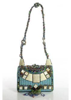 MARY FRANCES Multi-Colored Beaded Embellished Design Shoulder Handbag #MARYFRANCES #ShoulderBag