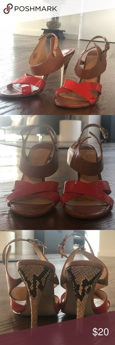 a79fddefa Ivanka Trump Ankle Wrap Snakeskin Coral Heels These beautiful heels are so  fun and playful