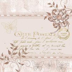 Background, Post, Card, Old Scrapbook, Vintage, Flower