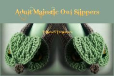 Looking for your next project? You're going to love Adult Majestic Owl Slippers by designer tkulling. - via @Craftsy
