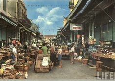 Market in Heraklion town, Crete island, Greece Heraklion, Maine, Crete Island, Simple Photo, Paradise On Earth, My Land, 1960s, Times Square, The Past