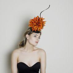 Fleur fascinator Carrie Jenkinson Millinery #fascinators #bespokefascinators #hats #headwear #milliners #millinery