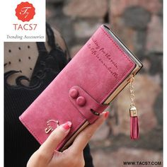 Cheap wallet bag, Buy Quality brand purse women directly from China purse brand women Suppliers: 2018 Vintage Women Wallets Matte PU Leather Ladies Handbags Hasp Tassel Zipper Brand Clutch Coin Purse Woman Burse Wallet Bags Leather Purses, Leather Wallet, Pu Leather, Leather Bags, Women's Accessories, Gland, Long Wallet, Simple Wallet, Clutch Wallet