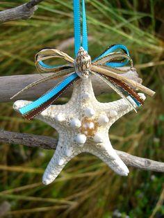 Beach Home Decor Tiffany Blue Starfish by sandnsurfcreations