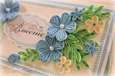 Quilling Craft, Paper Quilling, Quilling Flowers Tutorial, Quilled Creations, Quilling Techniques, Flower Pictures, Gift Tags, Beautiful Flowers, Envelope