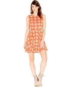 Maison Jules Sleeveless FloralPrint Flared Dress XSmall Grenadine Combo ** Read more  at the image link.