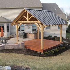 Pergola Ideas For Patio Backyard Projects, Outdoor Projects, Backyard Patio, Backyard Landscaping, Pavillion Backyard, Landscaping Ideas, Arizona Landscaping, Hot Tub Patio, Hot Tub Pergola