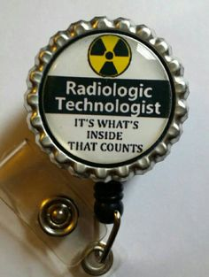 Radiologic Technologist Retractable Name Badge by ImagesNmore